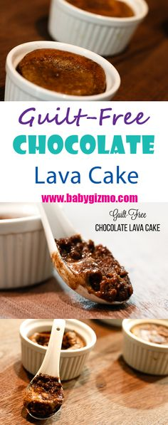 If you want to indulge in a chocolatey, oooey gooey, satisfying dessert but would like to eat clean, this Guilt-Free Chocolate Lava Cake will surely fulfill your desires! #Chocolate #BabyGizmo