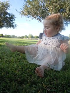 Adorable Onsie Dress for Baby Girl (18m) Lace Skirt. (SEE PICS)