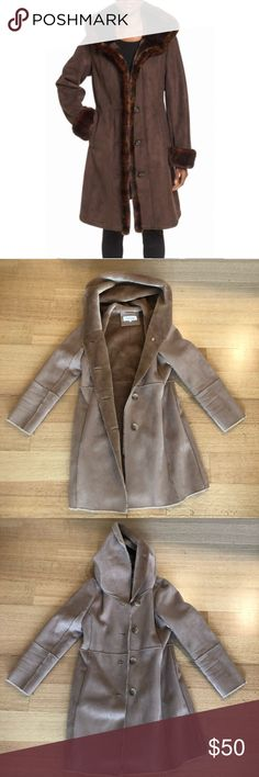 Calvin Klein Faux Fur Jacket I love this jacket. So sad to have to give it away due to my move. Barely worn in great condition. Super stylish and warm! Has button closure good and pockets. Calvin Klein Jackets & Coats Pea Coats