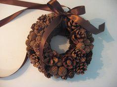 small pinecone wreath. $12.50, via Etsy.