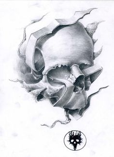 skull tattoos | Tattoo Skull Drawing by MOTH Simeonov - Tattoo Skull Fine Art Prints ...