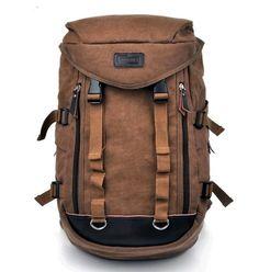Novelty Men's Coffee Vintage Canvas Shoulders Bag Backpack Traveling Camping Bag | eBay