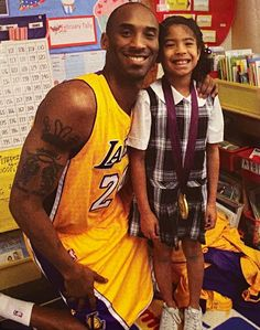 Kobe Bryant Once Dressed in Lakers Uniform and Brought Gold Medal for Career Day at Gianna's School — People Kobe Bryant 8, Kobe Bryant Family, Lakers Kobe Bryant, Space Jam, Kobe Bryant Daughters, Kobe Bryant Pictures, Career Day, Vanessa Bryant, Shooting Guard