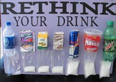 Sugar Content - Think Before You Drink