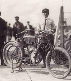 The first Harley Davidson motorcycle