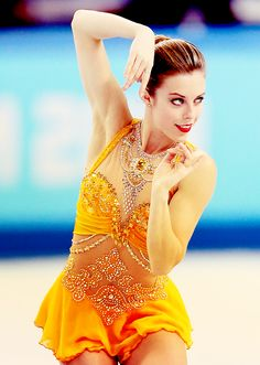 Ashley Wagner Sochi 2014 - Orange Figure Skating / Ice Skating dress inspiration for Sk8 Gr8 Designs.