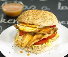 #Burger de #poulet express