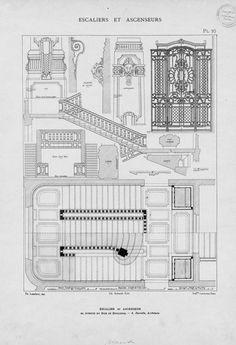 """argentoalmoure: """" Escaliers et ascenseurs Ensembles et détails d´exécution Paris 1914. """""""