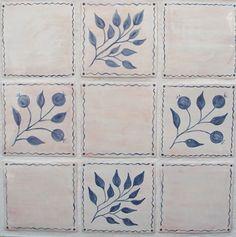 Handmade Ceramic Border Tile 3x6 Handpainted