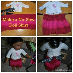How to make a no sew doll skirt