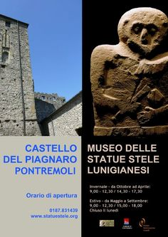 Winter opening hours for the castle and museum in Pontremoli