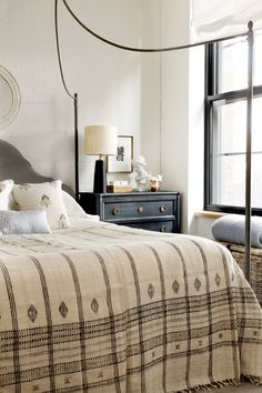 A worldly and sophisticated eclectic bedroom by Becca Interiors gets recreated by copycatchic luxe living for less budget home decor and design Decor, Interior, Home, Home Bedroom, Bedroom Inspirations, Eclectic Bedroom, Interior Design, Sophisticated Bedroom, House And Home Magazine