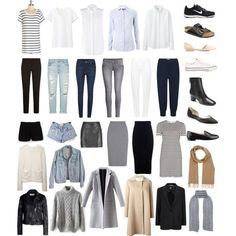 Minimal + Chic capsule wardrobe by Jackie-Perreira on Polyvore. Project 333
