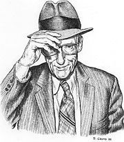 #Burroughs by #Crumb Best writing is his straight-ahead prose. The crazy fantasy stuff was encouraged to do by this other beatnik writer, Brian Gyson, who, for some reason Burroughs admired. Gyson was, I think, a jive-ass, bullshit kind of guy. Burroughs, I think he lacked confidence in his own writing, because when he wrote straight prose it didn't sell well. Both #Junky and Queer are great. They're both written in this very dry, prose style. And his little thin book called the Yage…