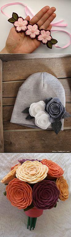 Цветы из фетра | Записи в рубрике Цветы из фетра | Дневник Масимо