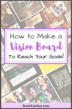 How to create a vision board to reach your goals! This easy DIY can help you motivate, face challenges, stay positive, and focused. Manifest your dreams! Quitting Social Media, Becoming A Blogger, Explanation Text, Goal Board, Creating A Vision Board, Focus On Your Goals, Motivation Goals, Personal Goals, How To Become