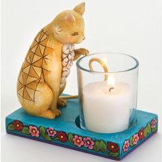 Enesco Jim Shore Cat Candle Holder Candleholder New   eBay