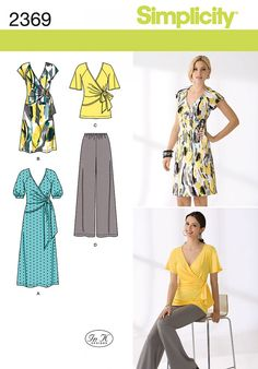 Simplicity 2369 Misses' Dress & Separates Sewing Pattern