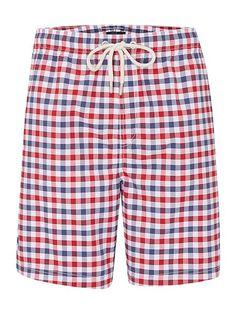 Gingham Check Swim Shorts