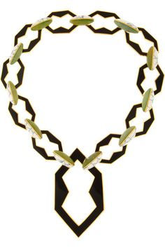 Eddie Borgo                               Gold-plated jade and howlite link necklace