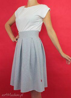 Spódnica dresowa kontrafałdami spódnice zygzak dres kontrafałdy