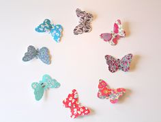 Girl Hair Clip Butterfly - Toddler Hair Clip - Girl Hair Barrette - Liberty of London Fabric - Hair Accessories by chocolatineboutique on Etsy https://www.etsy.com/listing/179270756/girl-hair-clip-butterfly-toddler-hair