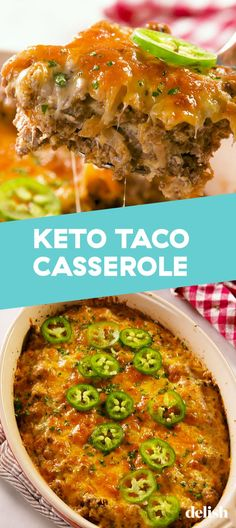 Your Taco Tuesday NEEDS This Keto Taco Casserole - Düşük karbonhidrat yemekleri - Las recetas más prácticas y fáciles Healthy Recipes, Low Carb Recipes, Diet Recipes, Recipes Dinner, Zoodle Recipes, Slimfast Recipes, Steak Recipes, Sweets Recipes, Lunch Recipes