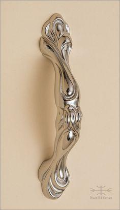 Dalia Cabinet Pull A   Polished Nickel   Custom Cabinet Hardware.  Www.balticacustomhardware.