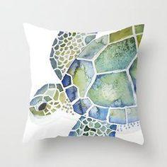 beach pillow, sea turtle pillow, sea turtle lover, save the sea turtles Throw Cushions, Designer Throw Pillows, Teal Beach Bedroom, Nautical Cushions, Save The Sea Turtles, Sea Turtle Art, Pink Art, Animal Pillows, Beach House Decor