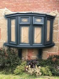Can You Paint UPVC Windows? Are you looking to paint your uPVC windows and doors? fresh lick of paint can boost the appeal to your property. Bay Window Exterior, Grey Exterior, House Paint Exterior, Exterior Doors, Exterior Houses, Exterior Remodel, Modern Exterior, Grey Windows, House Windows