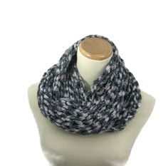 Knit Infinity Scarf Knit Circle Scarf Hand Knit by ArlenesBoutique