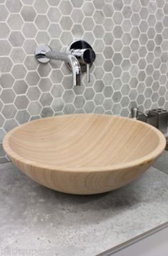 New-Solid-Stone-MARBLE-Round-Bowl-Counter-Top-Basin-Vanity-MODERN-Sandstone