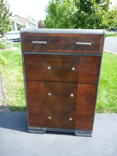 The body of this waterfall dresser was painted with Graphite.