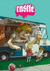 """magnolius: """" """"ice cream man"""" by Wesley Matthew Eggebrecht (Michigan) """" This is a very fascinating illustration. I enjoy themes that present objects or things that are. Monster Illustration, Creative Illustration, Illustration Art, Michigan, Ice Cream Man, Wesley, Freelance Illustrator, Art Fair, Graffiti Art"""