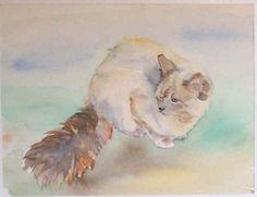 Jeannine Osborne (©2000 artmajeur.com/charente) Watercolour of a cat