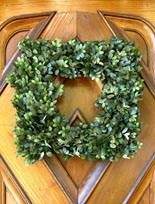 less traditional square wreath  #MyBalsamHillHome