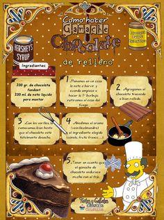 Tartas, Galletas Decoradas y Cupcakes: GANACHÉ DE CHOCOLATE DE RELLENO
