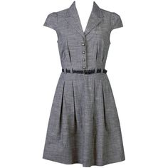 Business Ready Woven Dress (115 RON) ❤ liked on Polyvore featuring dresses, vestidos, women, cotton braided belt, woven dress, cap sleeve cotton dress, sleeve dress and cotton dress
