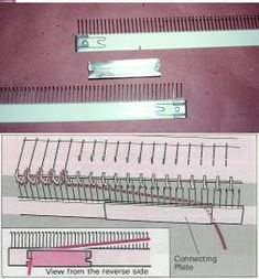 Sponge strip with 2 end pieces for Brother Bulky Knitting Machines And Ribber
