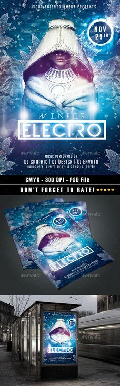 Dj Electro V Party Flyer Psd Template  Party Flyer Psd