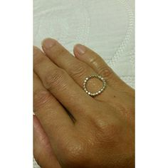 Oval Ring in Silver/Gold Hammered 14k gold filled & silver metal NWOT Laura J Designs  Jewelry Rings