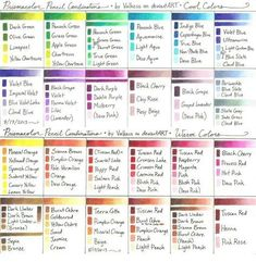 Prismacolor pencil color combinations Más - Crafting Timeout