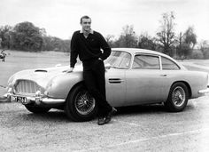 """Aston Martin DB5 from """"Goldfinger,"""" with Sean Connery. Cool+ cool=Sub Zero"""