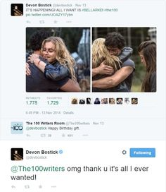 Oh gosh, Devon Bostick is the best. XD Bellarke