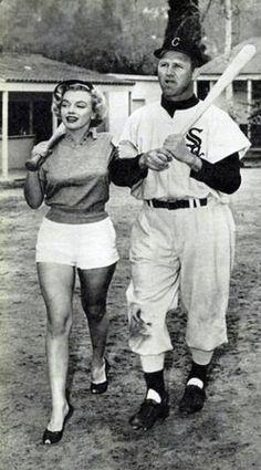 Marilyn Monroe with the White Sox at Spring Training