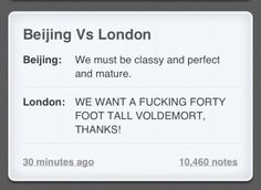 Beijing vs. London - OLYMPICS