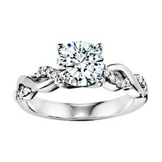 ArtCarved Braided Band Engagement Ring-- Round Brilliant cut Diamonds with braided bands are definitely my favorite!