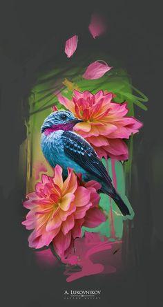 Watercolor Animals, Watercolor Art, Vogel Tattoo, Graffiti, Bird Artwork, Skull Tattoos, Art Sketchbook, Tattoo Studio, Beautiful Birds