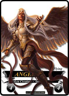 Angel 4/4 Warrior - MTG - Token