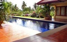 Paratiisikartano upean puutarhan keskellä #thaimaa #unelmatalot